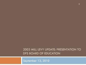 Bond & Mill Levy Committee - Denver Public Schools