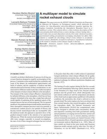 A multilayer model to simulate rocket exhaust clouds - JATM