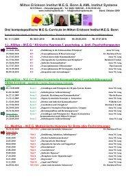 Milton Erickson Institut MEG Bonn & AML Institut Systeme