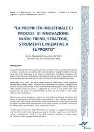 la proprietà industriale e i processi di innovazione: nuovi ... - Netval