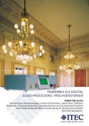 POWERMIX 6/3 DIGITAL AUDIO-PROCESSING - Itec