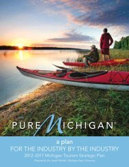 2012-2017 Michigan Tourism Strategic Plan for the Industry