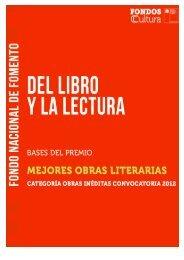 Premio Mejores obras Literarias de Autores/as Nacionales