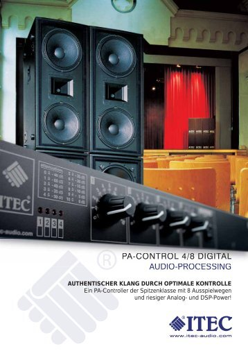 PA-CONTROL 4/8 DIGITAL AUDIO-PROCESSING - Itec