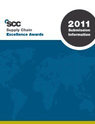Supply Chain Excellence Awards - Supply Chain Council