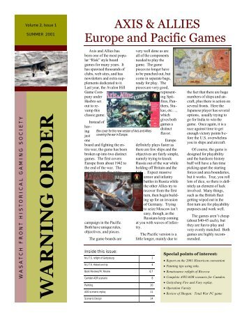 Volume 2, Issue 1 - Wasatch Front Historical Gaming Society