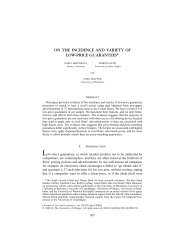 on the incidence and variety of low-price guarantees - Simon ...