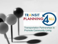 Transportation Partnerships to Promote Community Living