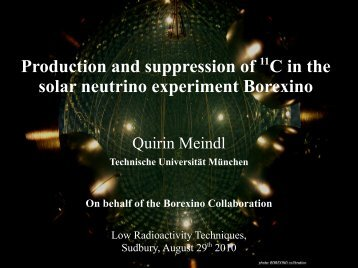 Production and suppression of 11C in the solar neutrino ... - snolab