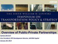 Public-Private Partnerships and Alternative Delivery