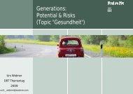 Generations: Potential & Risks (Topic