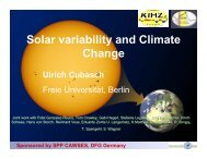 Solar variability and Climate Change - Solar Physics at MSU