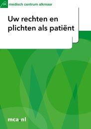 Uw rechten en plichten als patiënt - Mca