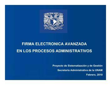 firma electronica avanzada en los procesos administrativos