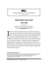 Bakersfield's Curfew Bell, 1891-1988 - Gilbertgia.com