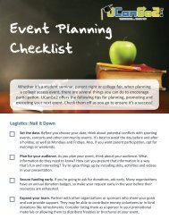 Event Checklist for Counselors - UCanGo2