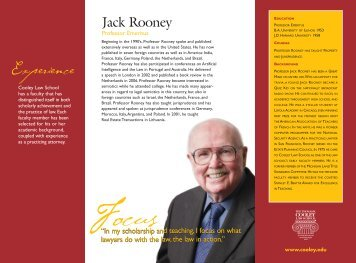 Jack Rooney - Thomas M. Cooley Law School