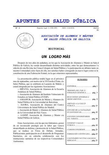 Apuntes de Salud Pública, Vol. I, Nº 6, Julio 1995