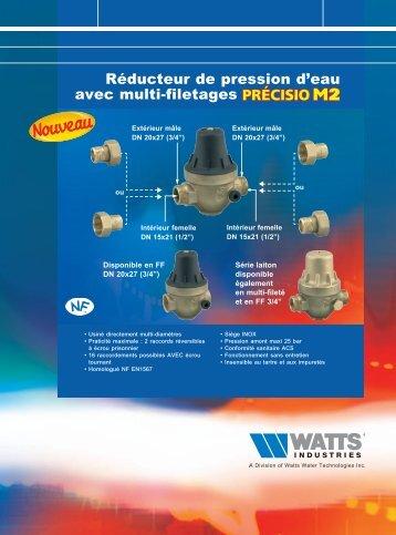 Réducteur de pression d'eau avec multi-filetages