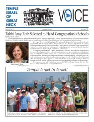 August 30 - Temple Israel of Great Neck