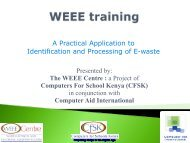 A Practical Application to Identification and Processing of E-Waste