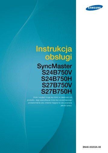 Instrukcja Obsługi Samsung Monitor S27B750V - Instrukcjapolska.pl