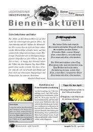 Kopie von Bienen-aktuell Nr. 22.pmd - Liechtensteiner Imkerverein