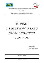 raport z polskiego rynku nieruchomości 2004 rok - Biurowce.net