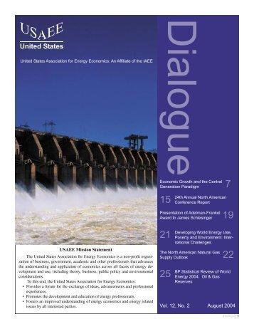 Dialogue - United States Association of Energy Economics