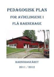 Pedagogisk plan 2011 - 2012 - Flå kommune