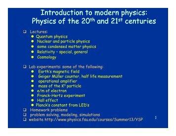 Introduction to modern physics - FSU Physics Department