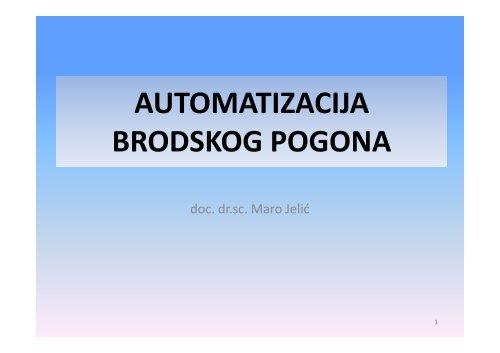 AUTOMATIZACIJA BRODSKOG POGONA