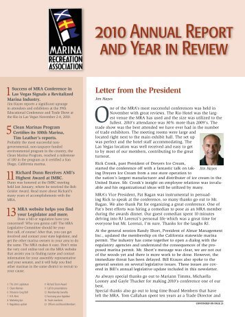 2010 Annual Report and Year in Review - Marina Recreation ...