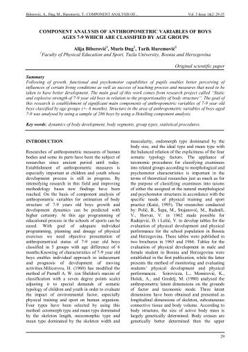 Component analysis of anthropometric variables of boys ages 7-9 ...
