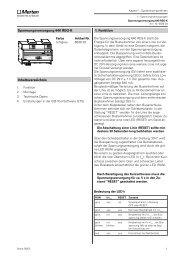Spannungsversorgung 640 REG-K 1. Funktion - Eibmarkt.com