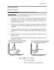 Reaction Profile Energy Diagram Exothermic ... - Moorpark College