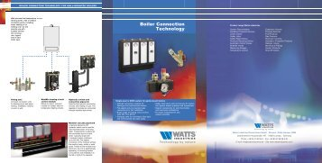 Boiler Connection Technology - Watts Industries