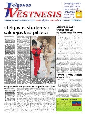 2013.gada 25.jūlijs Nr.30(317) - Jelgavas Vēstnesis