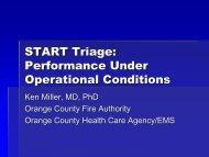 START Triage: Performance Under Operational Conditions