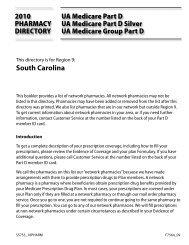 South Carolina - United American Insurance Company