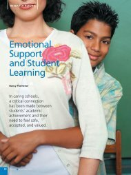Emotional Support and Student Learning - National Association of ...
