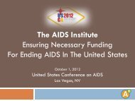 Ensuring Necessary Funding for Ending AIDS In ... - The AIDS Institute