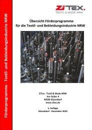 Förderprogram m e - Textil- und B ekleidungsindustrie N R W - ZiTex