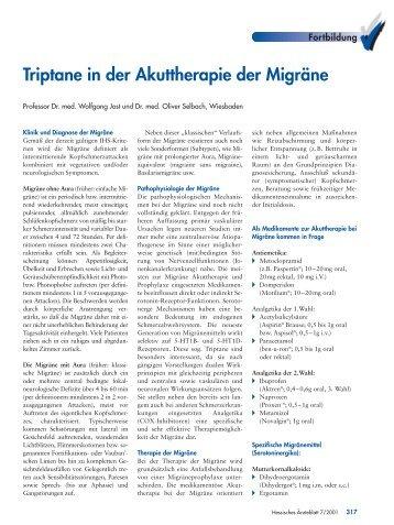 Triptane in der Akuttherapie der Migräne