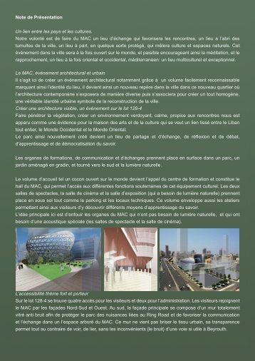 Note de presentation.indd - House Of Arts And Culture