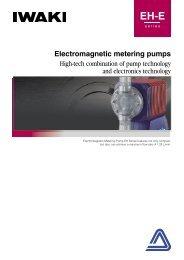 IWAKI Electromagnetic metering pumps EH-E ... - Kartezyen Makine