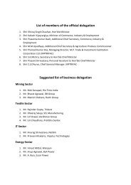 List of members of the official delegation Suggested list of business ...