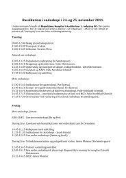 Basalkursus i endoskopi i 24. og 25. november 2011. - fra DSGH