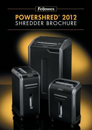shredder brochure - Fellowes