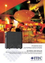 POWERCOAX LAUTSPRECHERSYSTEME - Itec